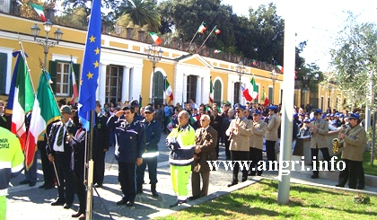 La manifestazione ad Angri per il 4 novembre