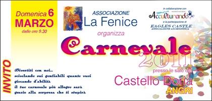 Domenica 6 marzo Festa di Carnevale al Castello Doria