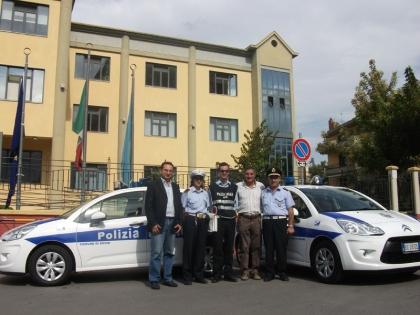 Consegnate due nuove auto al Corpo dei Vigili Urbani.