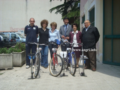 Cerimonia di consegna delle biciclette ai tre Circoli Didattici della città
