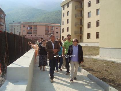 139 alloggi Iacp di Fondo Messina, il Sindaco e gli assegnatari verificano lo stato di avanzamento dei lavori