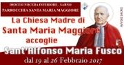 Continua la peregrinatio delle spoglie di Sant'Alfonso Maria Fusco