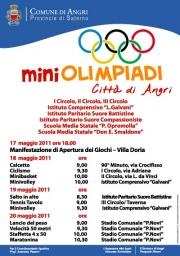 """Al via martedì 17 maggio le """"Mini Olimpiadi Città di Angri"""""""