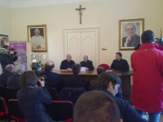 Prima cerimonia  per l'insediamento del Vescovo  Mons. Giuseppe Giudice
