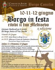 """Parte questa sera  """"Borgo in Festa, rivivi il Tuo Medioevo"""""""