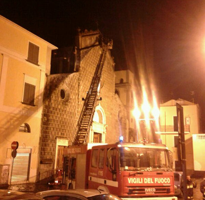 Incendio Collegiata Angri