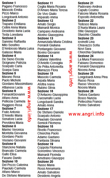 Ecco l 39 elenco dei 104 scrutatori e l 39 assegnazione ai seggi for Elenco deputati